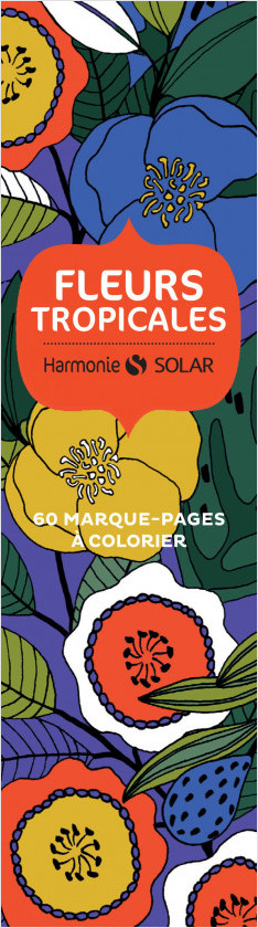 Marque page Fleurs tropicales