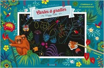 Cartes à gratter : Forêts enchantées – Pochette avec 5 grandes cartes à gratter et 1 encadrement – À partir de 7 ans