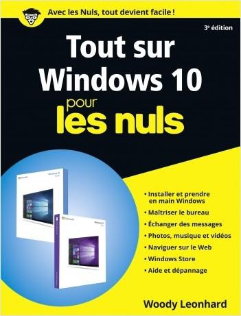 Tout sur Windows 10 pour les Nuls, grand format, 3e édition