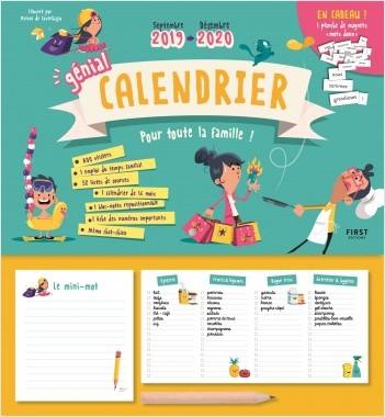 Génial calendrier 2019-2020 pour toute la famille - septembre 2019 - décembre 2020