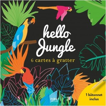 Hello jungle - 6 cartes à gratter