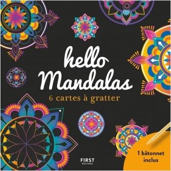 Hello Mandalas - 6 cartes à gratter