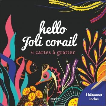 Hello joli corail - 6 cartes à gratter