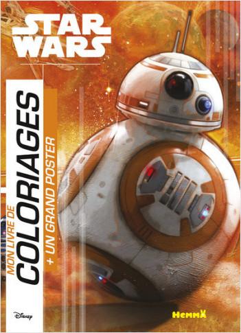 Disney Star Wars Le Réveil de la Force - Mon livre de coloriage + un grand poster (BB-8)