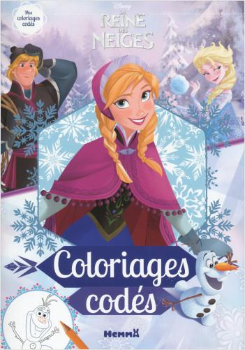 Disney La Reine des Neiges - Coloriages codés