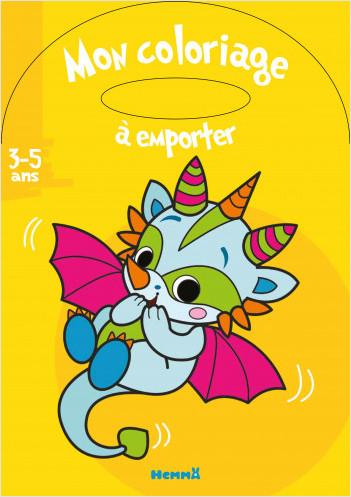 Mon coloriage à emporter (3-5 ans) (Bébé dragon)