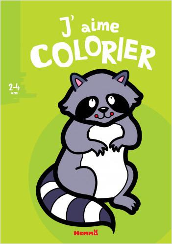 J'aime colorier (2-4 ans) (Raton laveur) - Nouvelle édition
