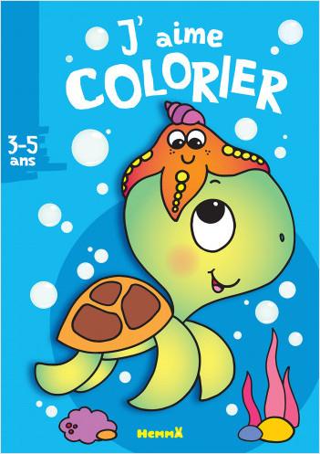J'aime colorier (3-5 ans) Tortue