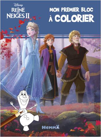 Disney La Reine des Neiges 2 - Mon premier bloc à colorier (bandeau bleu)