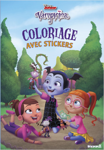 Disney Vampirina - Coloriage avec stickers (Poppy-Vampirina-Bridget)