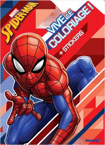 Marvel Spider-Man - Vive le coloriage ! (Fond formes géométriques)