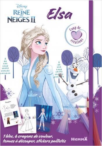 Disney La Reine des Neiges 2 – Elsa – Coup de cœoeur créations - Kit mode avec coloriage et stickers - Dès 5 ans