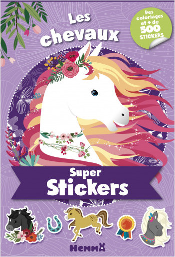 Super stickers ! Les chevaux (Violet)