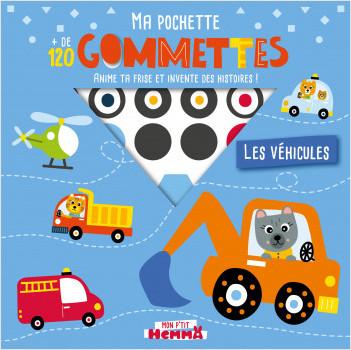 Mon P'tit Hemma - Ma pochette + de 120 gommettes - Les véhicules